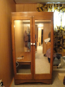 Mirrored Wooden Armoire