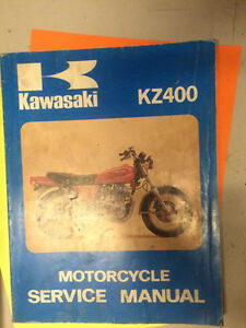 75 76 77 78 Kawasaki KZ400 Motorcycle Shop Manual