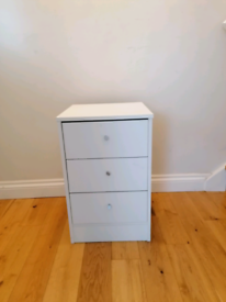 Chest of 3 drawers, white
