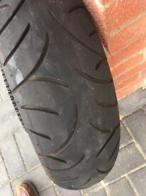 Bridgestone Battleaxe M/C tyre
