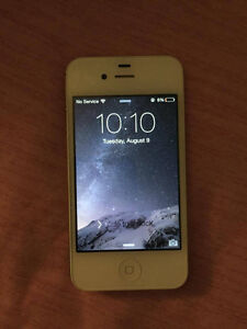 White iPhone 4s 16GB perfect condition London Ontario image 1