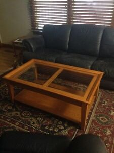 Solid Coffee Table Set with Two Matching End Tables Regina Regina Area image 2