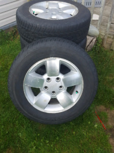 P235/65r/17 toyo tires on jeep rims for sale
