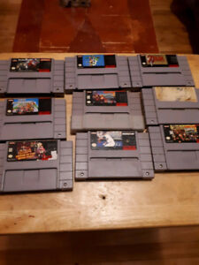 Snes jeux super nintendo lot