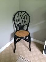 Excellent condition black bamboo chair!