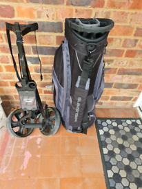 NOW SOLD Golf Bag and Trolley Good condition. Plus left handed putter