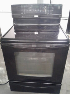 """stove kenmore 30"""" convection glass top black"""