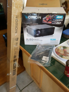 Orion 3D 4K projector with screen brand new
