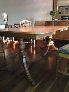 Antique Wood Dining Table Wilson Furniture