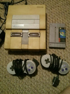 SNES Console with Super Mario World