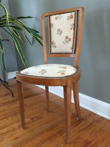 French Art-Deco Style Chairs (Three) and Side Table