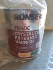 Crystal clear exterior varnish