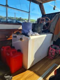 Large aluminium boat fuel tanks x2
