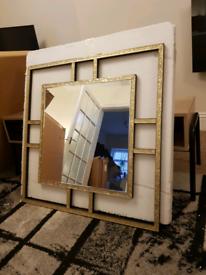 Mantle Mirror NEW BOXED Gold Mirror Alison Cork Mirror Retro Mirror