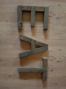 Old wooden letters for kitchen