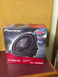 New Pioneer 10-Inch 4OHM/1200W Subwoofer