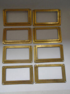 8 Filing Cabinet Tag Name Plates + Cup Handle Pulls