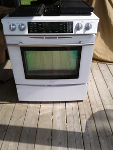 Propane/electric stove