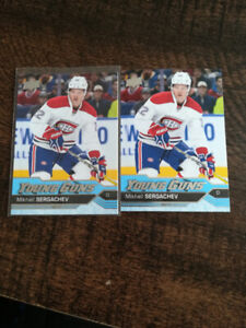 2 card lot of 16/17 Young Guns Rookie Cards of Mikhail Sergachev