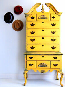 Refinished eye catching dresser!