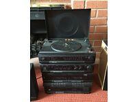 Vinyl/fm radio/cd player and cassette player