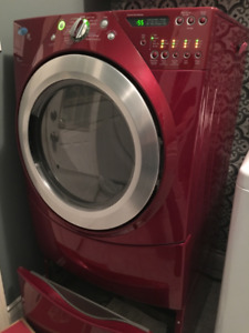 Whirlpool Duet front load electric dryer with pedestal