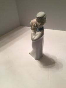 Boy with Ball Figurine German Democratic Republic Grey hair