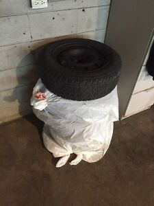 P195/65R15 Winter tires on rims set of 4 Honda Stratford Kitchener Area image 2