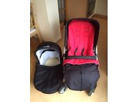 Mamas and Papas Glide in Poppy Pushchair Pram Travel System Good Condition!