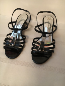 "Etienne Aigner Black Size 6.5 M with 2"" heel Sandal for Sale!"