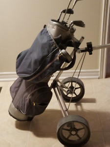 Golf Clubs with Bag and Cart - New Price