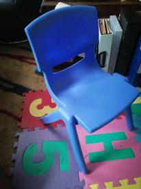 Blue kid chair