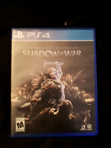 Ps4 Shadow of war and others