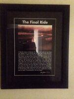 "Dale Earnhardt Sr. Framed Picture ""The Final Ride"""