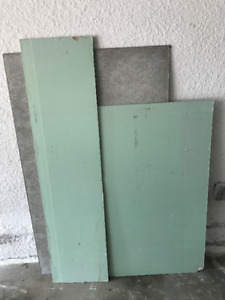 Drywall and cement board - 3 pieces