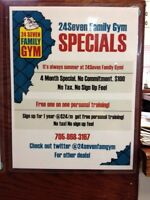 24 Seven Family Gym -4 Month Special