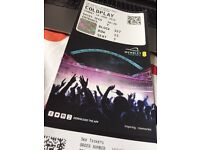 Coldplay live in London Wembley Stadium 1 Ticket for sale