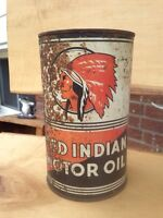 1930's Red Indian motor oil quart can MCcoll-Frontenac