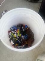 Half a 5 gallon pail of Legos