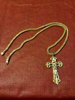 10 karat chain with cross pendent