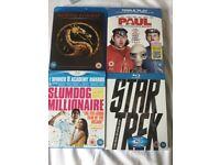 Blu ray Mortal Kombat ~ Paul ~ Slumdog Millionaire ~ Star Trek blu-rays B