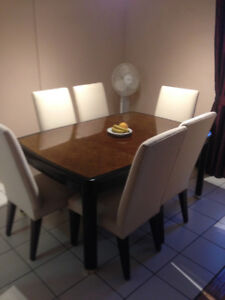 Elegant and Beautiful Dining Table Six Chairs