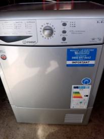 8kg silver Indesit condenser tumble dryer