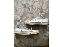Ladies size 6 converse high tops