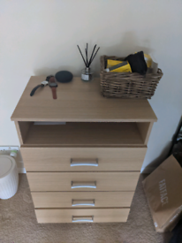Wooden Beech chest of drawers