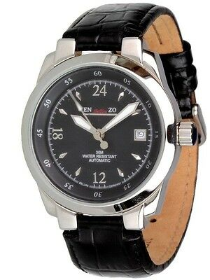 Enzo B.Black 24 Hour Automatic Watch Lugano 1 17/32in Women's Watch Men's Watch