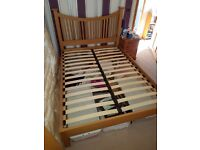 Solid pine double bed frame £40ono