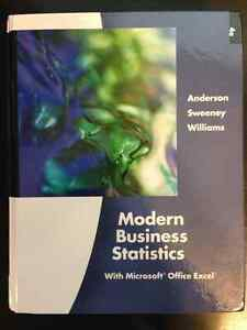 Modern Business Statistics 4E by Anderson Sweeny Williams - OBO