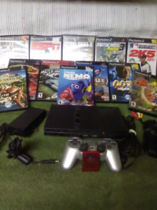 Ps2 games, console and connections for sale.