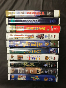 Children's VHS movies in hard plastic cases! $1.50 each!